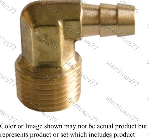 "Male Elbow 3/8"" Barb x 1/4"" Thread"
