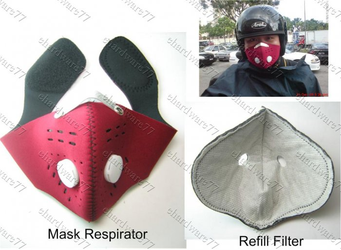 Anti-Smog Neoprene Urban Face Mask With Activated Charcoal Cloth Filter (99UM216)
