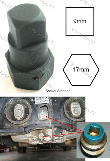 Square Drive Drain Plug Key 9mm (11179)