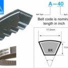 Mitsuboshi Raw Edge Cogged V-Belt BX31