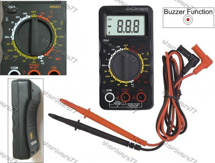 Digital Multimeter Buzzer & Cell Battery Test  (W0451)