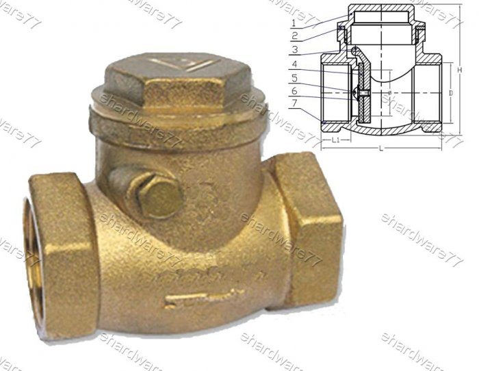"BRASS SWING CHECK VALVE 2"" BSP"
