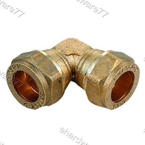 Plumbing Copper Pipe Fitting - Elbow Coupling 22mm