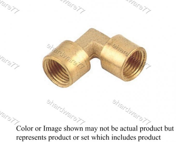 "Brass Fitting Female Elbow 3/8"" x 3/8"" (DFFL33)"