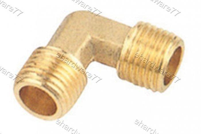"""Brass Fitting Male Elbow 1/2"""" x 1/4"""" (DMML42)"""