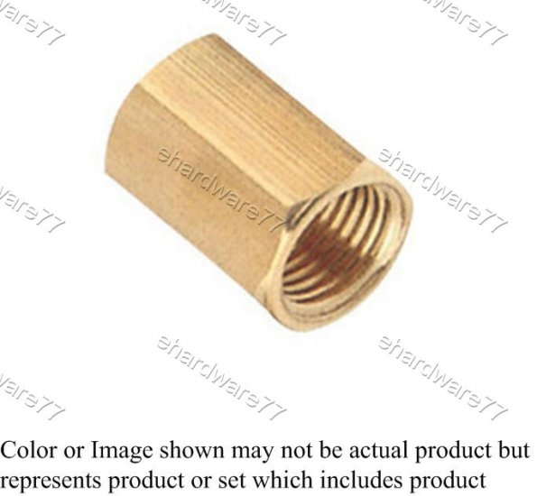 "Brass Fitting Reducer Hex Socket 1/2""x1/4"" (DFF42)"