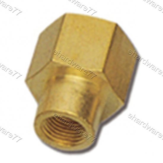 "Brass Fitting Reducer Hex Socket 1/2""x1/8"" (DFF41)"