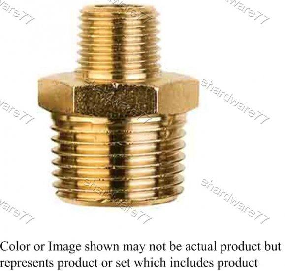 "Brass Fitting Reducer Male Adaptor 1/2""x3/8"" (DMM43)"