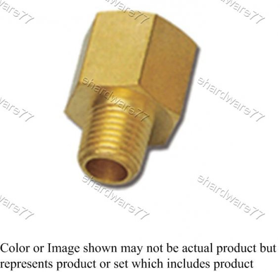 """Brass Fitting - Female Male Connector 3/8"""" (DFM3)"""