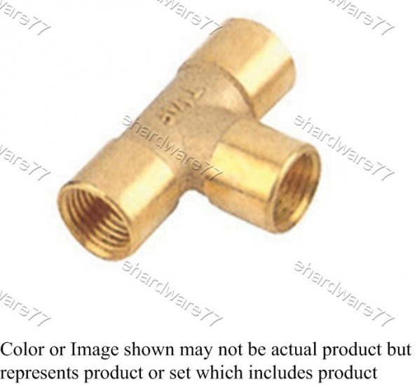"""Brass Fitting - Female Tee Equal 3/8"""" (DFT3)"""