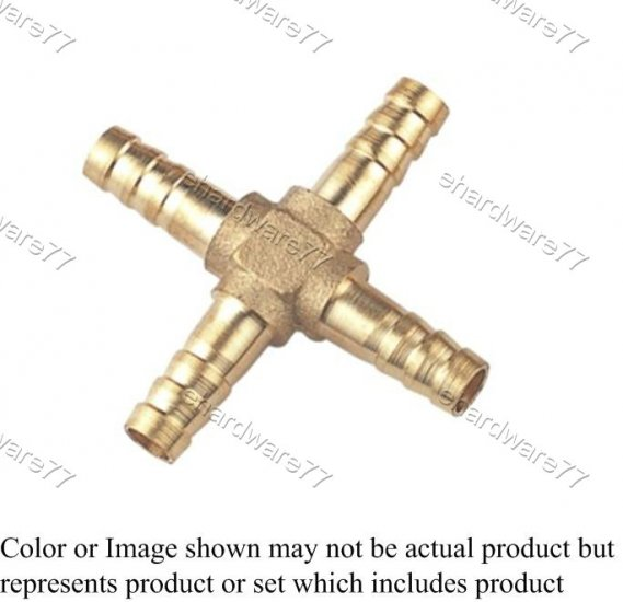 "Brass Fitting Cross Joint 1/2"" (DHX4)"