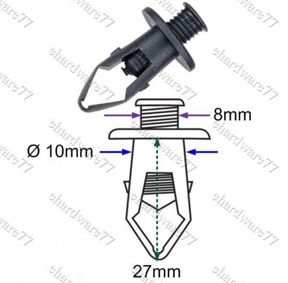 Honda Bumper Plastic Clips RD22 (100pcs)