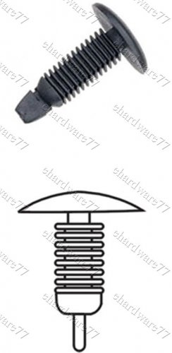 Auto Upholstery Plastic Clips RD10 (200pcs)
