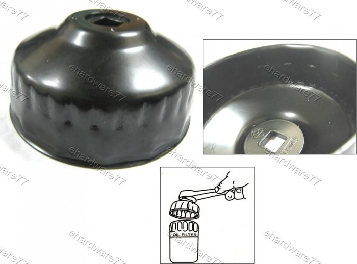 Oil Filter Cap Wrench 2 Step 75-77mm 15/30Flutes(78231)