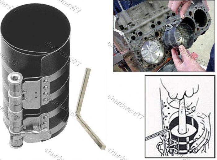 "Engine Piston Ring Compressor 6"" x 90mm-175mm (1737)"