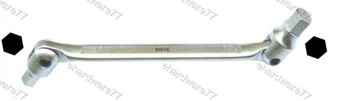 Double Swivel Head Hex Wrench 8mm x 10mm