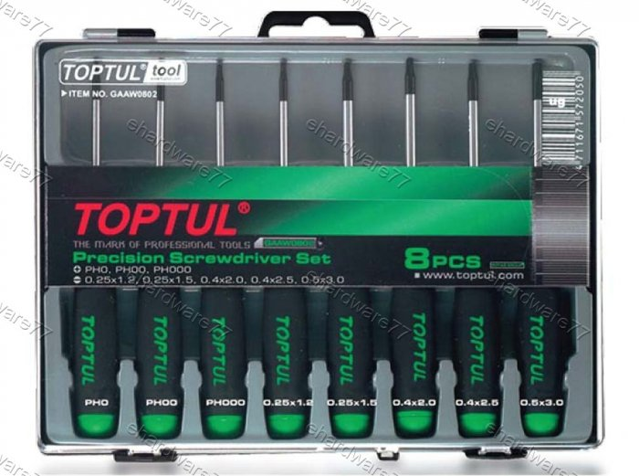 TOPTUL 8PCS PRECISION SCREWDRIVER SET (GAAW0803)