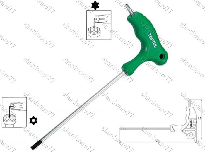 TOPTUL - 2way L-Type Torx Key Wrench T27 (AIEA2721)
