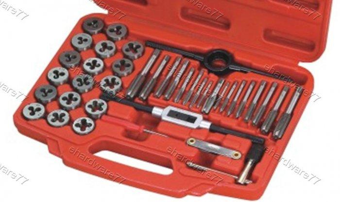 40pcs Automotive Thread Repair Tap and Die Set (3432)