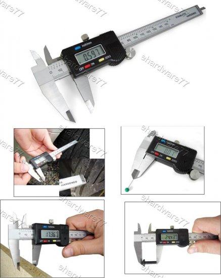 "Stainless Steel Digital Caliper 4"" / 100mm"
