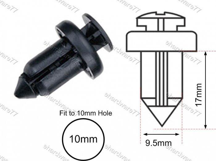 General Bumper 10mm Plastic Clips (RD30)  (100pcs)