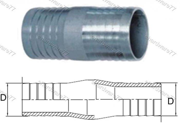 Zinc Plated Steel Hose Mender 20mm O.D