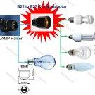 B22 to E27 Lamp Holder Adaptor Socket-Convert Pin Type Bulb to Screw Type Bulb (HOSE222)