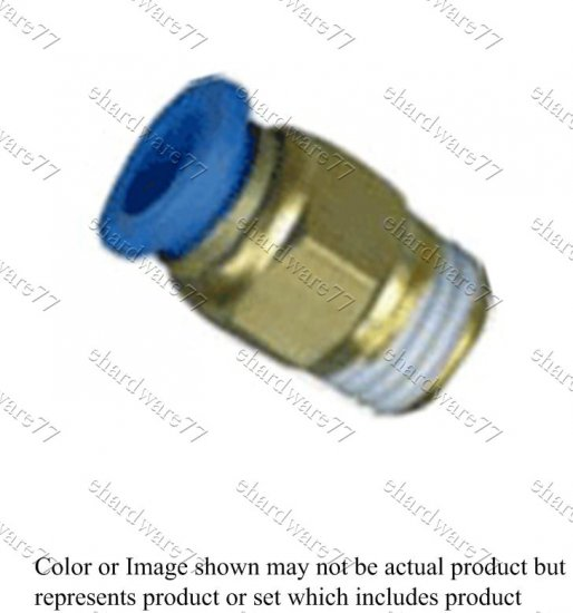 Push-in Straight Male Connector 4mmODx1/8""
