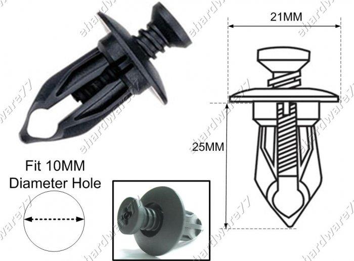 Benz Bumper Plastic Clips RD23 (100pcs)