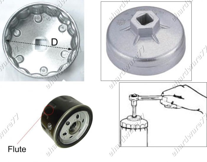 Oil Filter Cap wrench Size: 91mm P15 for Fiat,Ford,GM,Lancia (WH913)