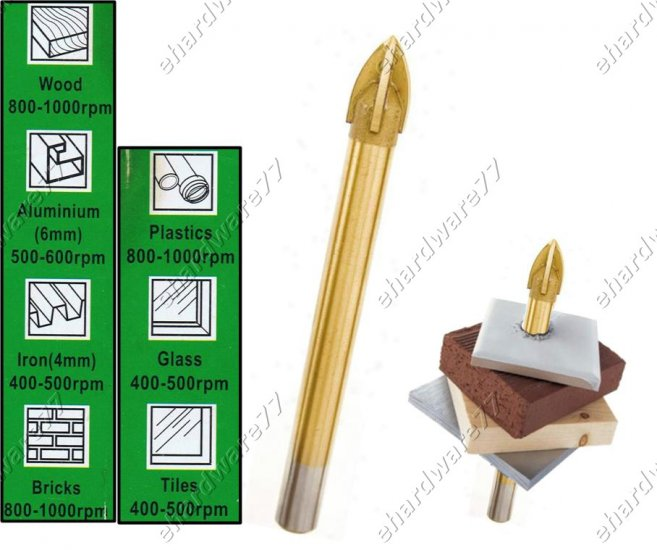 4Pcs Innovative Multi-functional Drill Bit For Almost Any Application (50GB)