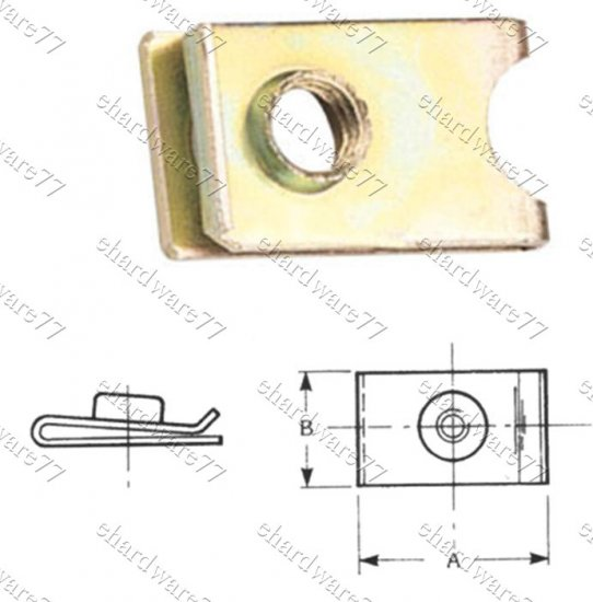 AUTO BODY METRIC SCREW U-NUT INSERT CLIPS M5 (TQ5U)
