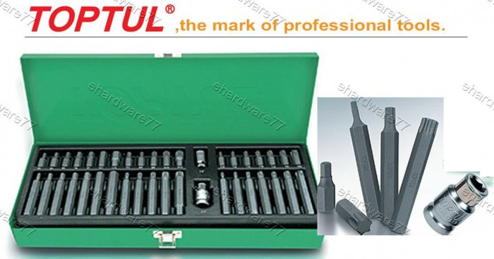 "TOPTUL 40Pcs 3/8"" & 1/2"" DR Power Bit Set (GAAD4002)"