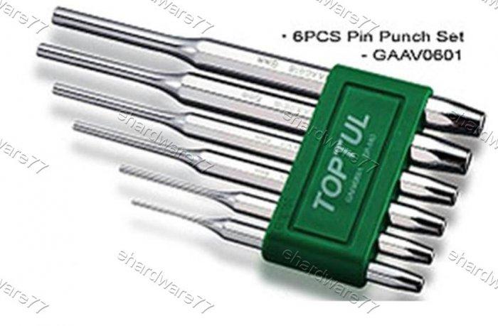 TOPTUL 6pcs Pin Punch Set (GAAV0601)