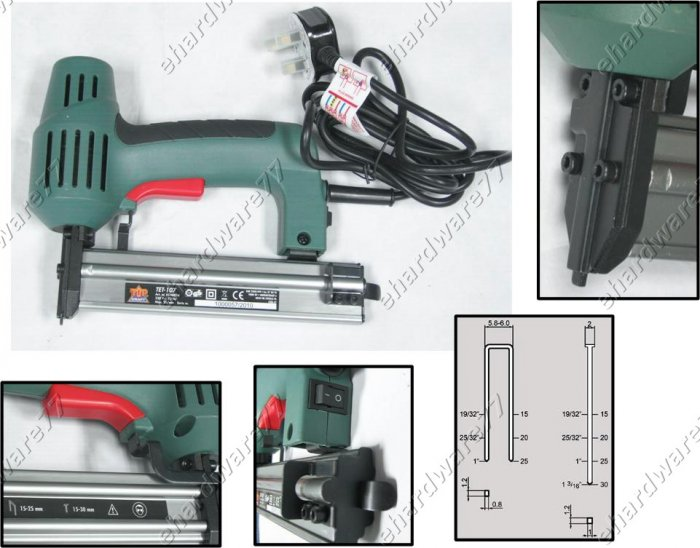 Electric Dual Styles Brad & Crown Nailer with Safety Probe (KR4290)