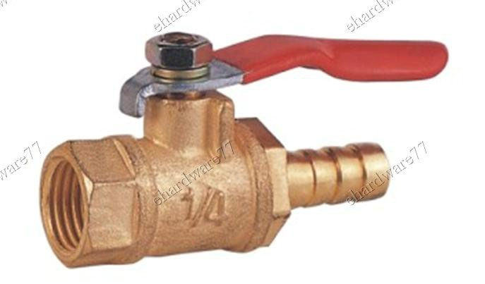 "BRASS MINI BALL VALVE 1/8""F x 5/16"" Hose Tail (DFH12)"