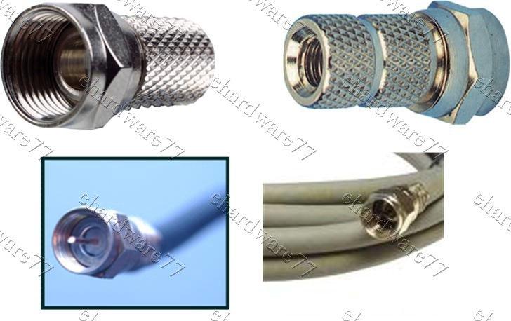 F-Plug Twist Connector RG6 Cable ASTRO, Virgin Sky Digital