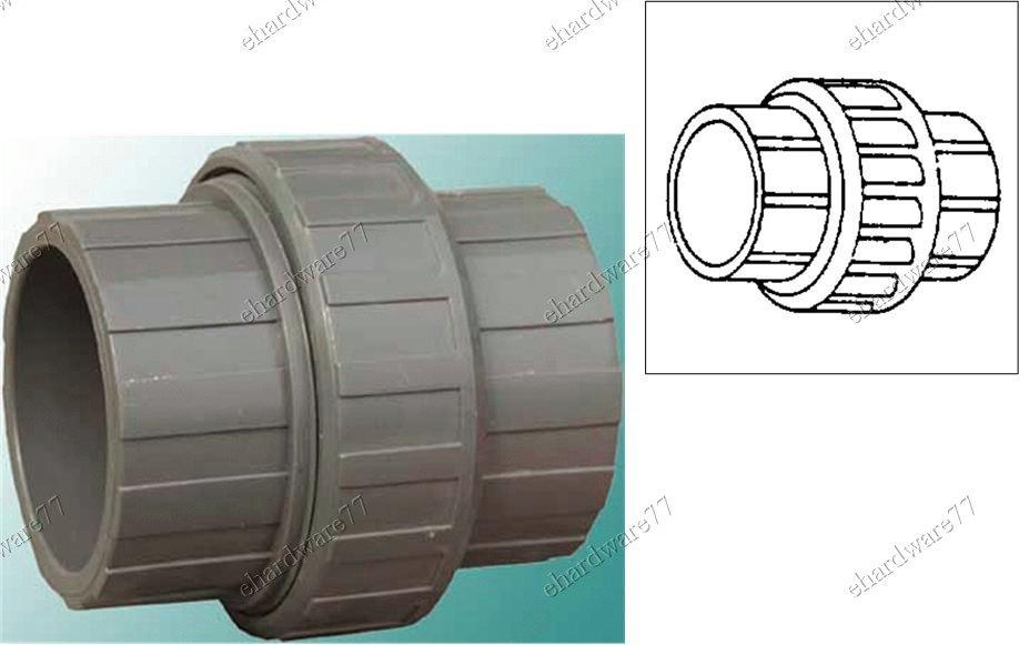 """PVC Union Slip Joint 1/2"""" (15mm)"""