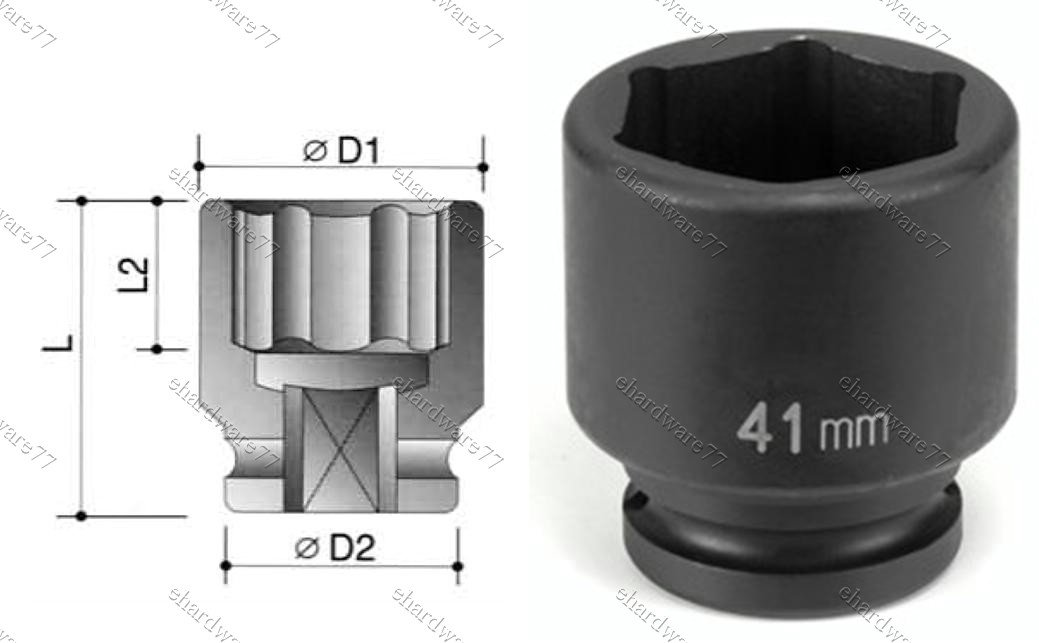 "3/4"" DR. 6pt Impact Socket 39mm (60140039)"