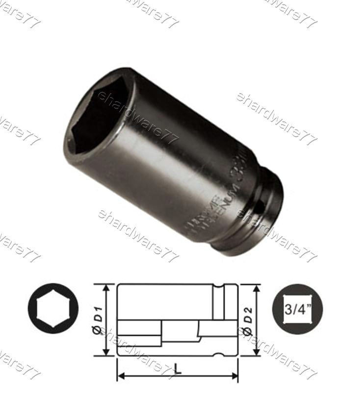 "3/4"" DR. 6pt Deep Impact Socket 38mm (60542038)"