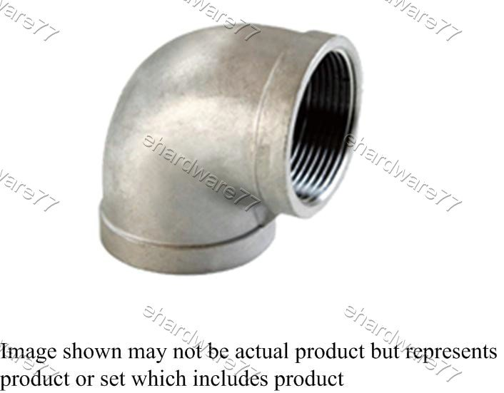 """Stainless Steel Threaded Elbow 1/2""""F x 1/2""""F"""