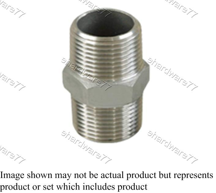 "Stainless Steel Nipple 3/4""M x 3/4""M"