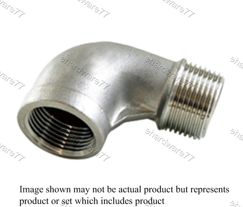 "Stainless Steel Street Elbow 3/8""M x 3/8""F"