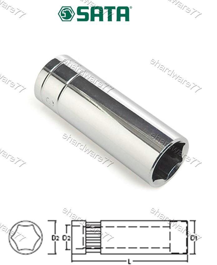"SATA 3/8"" DR. 6pt Deep Socket 15mm (12408)"