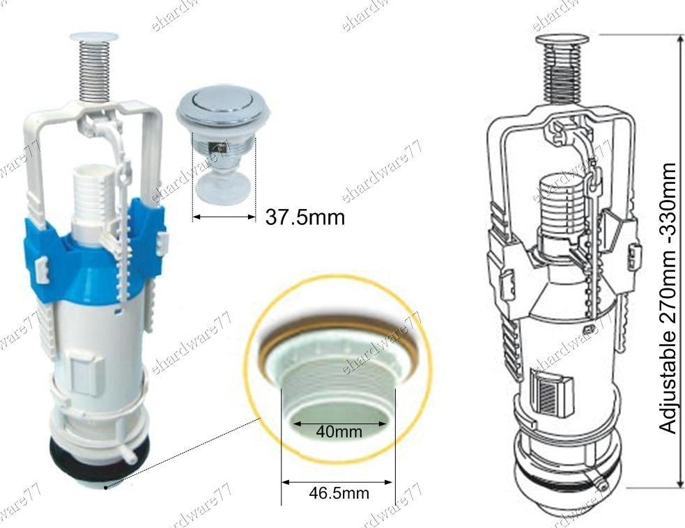 Cistern Push Button Single Flush Valve 40mm (F21000)