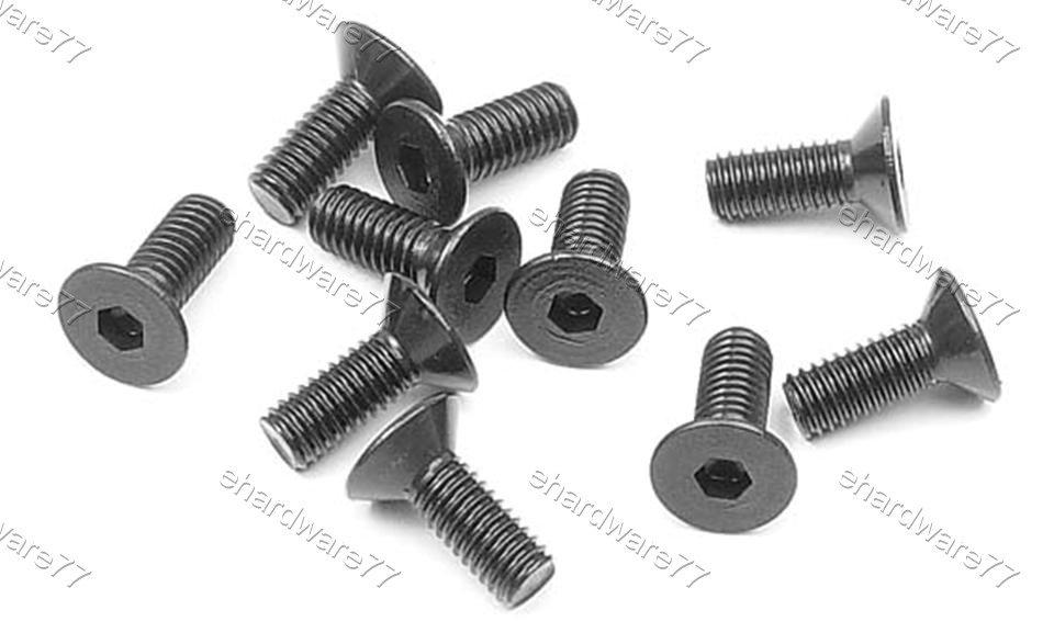 Countersunk Hex Socket Flat Screw M3x6mmL (10pcs)