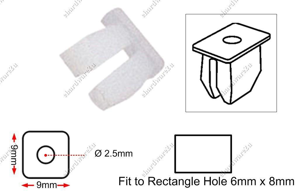 """Body Light Base 5/32"""" Plastic Clips (RD01)"""