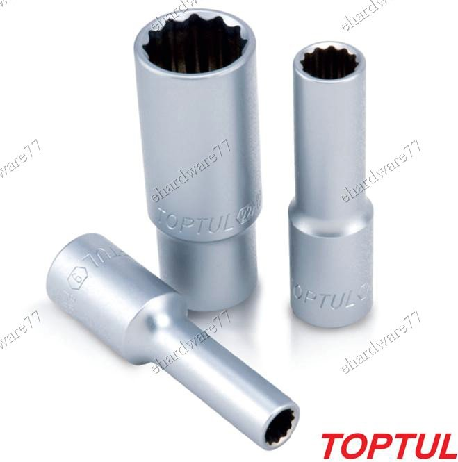 "Toptul  1/4""DR 12pt Deep Socket 12mm (BAEF0812)"
