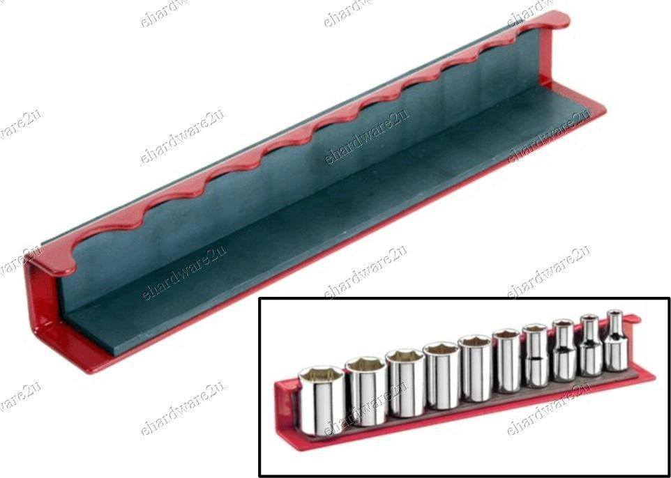 """Magnetic Socket Holder 1/4""""DR Tray (MT-QJ7032)"""
