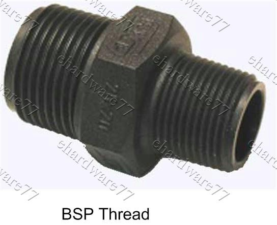 "Poly Reducer Nipple 3/4""M x 1""M"